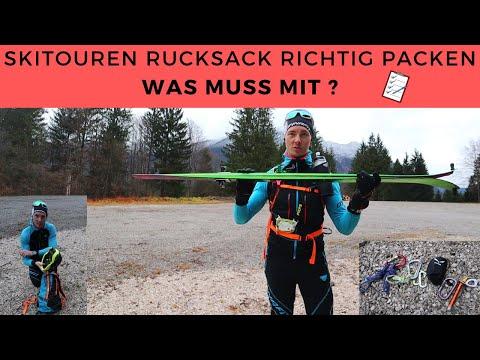 PACKLISTE Skitouren Rucksack 📝 WAS MUSS MIT // Rucksack richtig packen mit Erklärungen // Tutorial